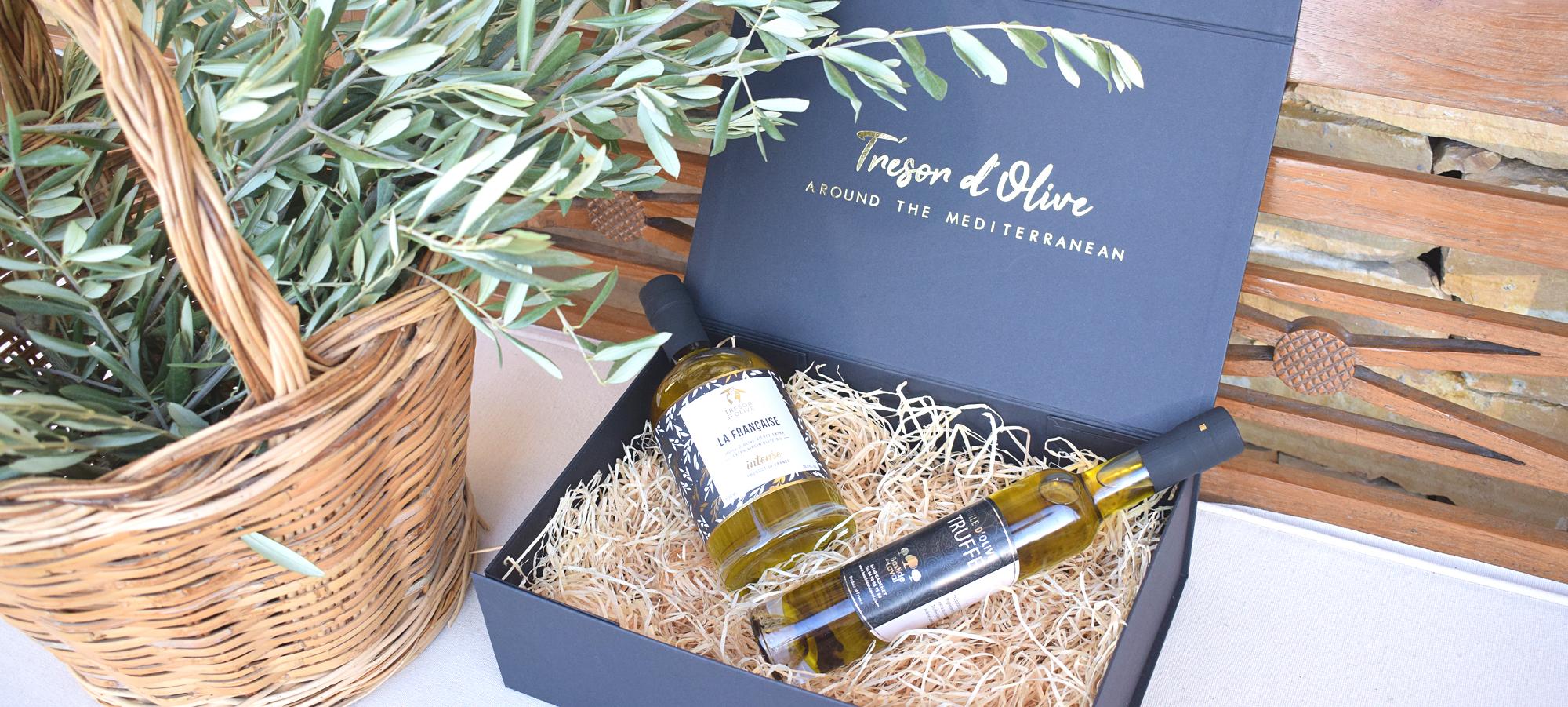 bandeau coffret truffe huile d'olive